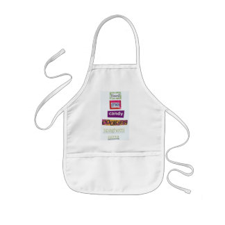 feed me candy cookies spaghetti pizza kids apron