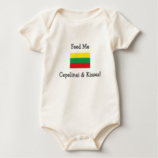 Feed Me Cepelinai & Kisses! Baby Bodysuit