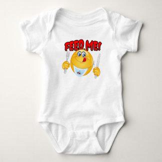 Feed Me Emoticon Baby Bodysuit