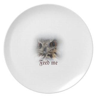 'Feed Me' Eurasian Eagle-Owl Plate