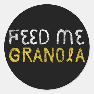 Feed Me Granola! Classic Round Sticker