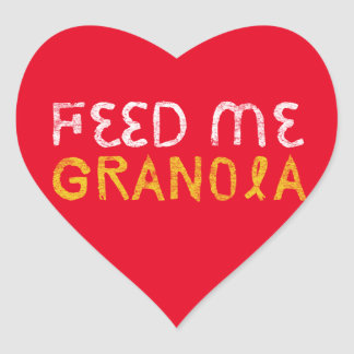 Feed Me Granola! Heart Sticker