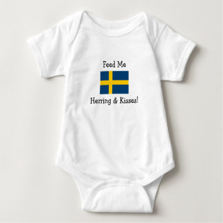 Feed Me Herring & Kisses! Baby Bodysuit