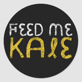 Feed me kale classic round sticker