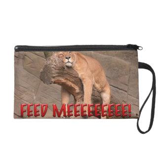 Feed Me Lion Wristlet Clutches