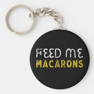 Feed me macarons keychain