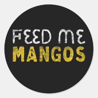 Feed me mangos classic round sticker