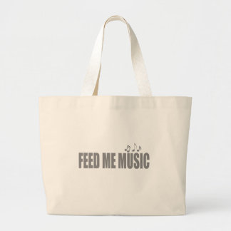 Feed me MUSIC Large Tote Bag