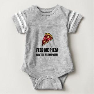 Feed Me Pizza Pretty Baby Bodysuit