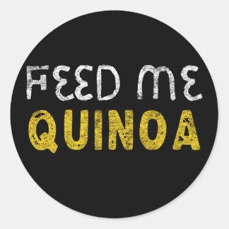 Feed me quinoa classic round sticker