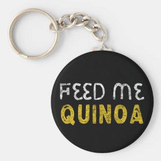 Feed me quinoa keychain
