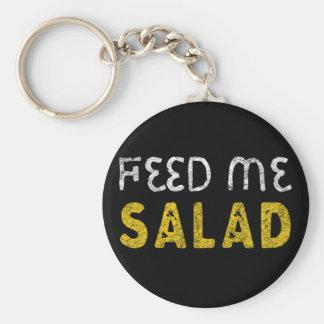Feed me salad keychain