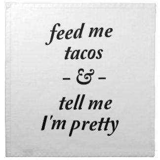 Feed Me Tacos Cloth Napkins