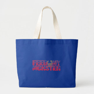 feed my monsters tote bag