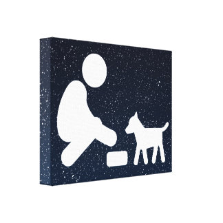 Feed Pets Graphic Gallery Wrap Canvas