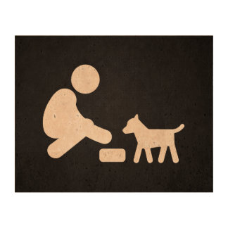 Feed Pets Graphic Cork Paper Print