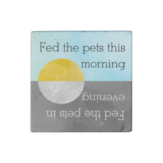 Feed Pets Kitchen Reminder | Fed Dog Cat Fish Pet Stone Magnets