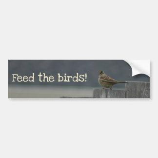 """Feed the birds"" bumper sticker"