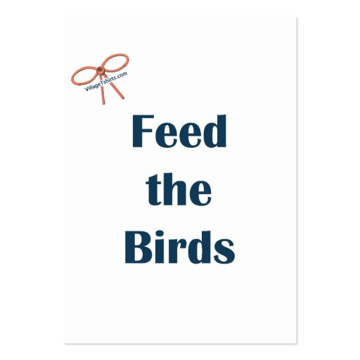 Feed The Birds Reminders Business Card Template