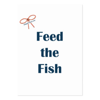 Feed The Fish Reminders Business Cards