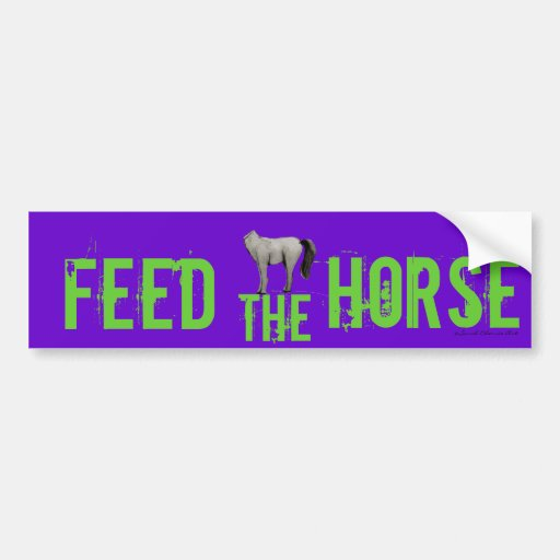 Feed the Horse Car Bumper Sticker