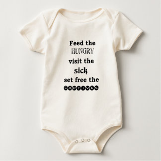 feed the hungry visit the sik set free the captive baby bodysuit