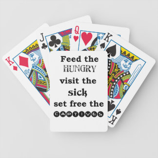 feed the hungry visit the sik set free the captive bicycle playing cards