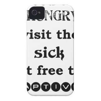 feed the hungry visit the sik set free the captive iPhone 4 cases