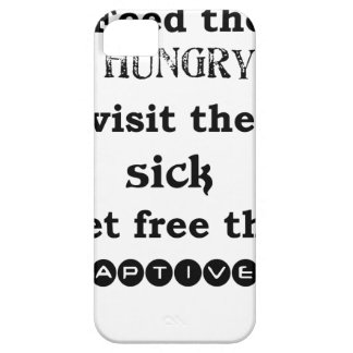 feed the hungry visit the sik set free the captive iPhone 5 covers
