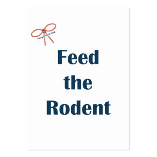 Feed The Rodent Reminders Business Card
