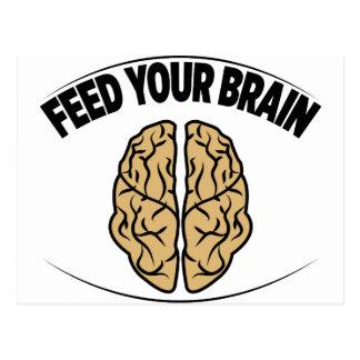 FEED YOUR BRAIN POSTCARD
