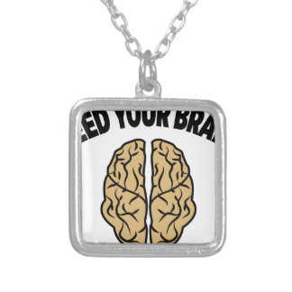 FEED YOUR BRAIN SILVER PLATED NECKLACE