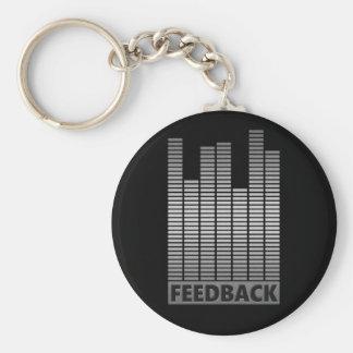 Feedback concept. basic round button keychain