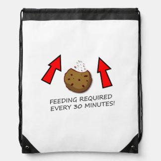 Feeding Cookie Drawstring Backpack