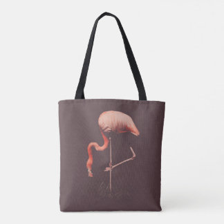Feeding Flamingo Tote Bag