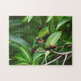 Feeding Green-Emerald Hummingbird Puzzle