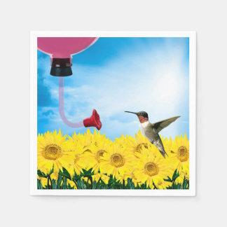 Feeding Hummingbird Paper Napkins
