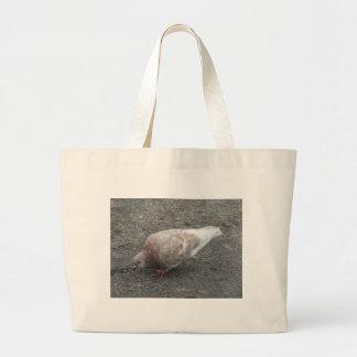 Feeding Pigeon Jumbo Tote Bag