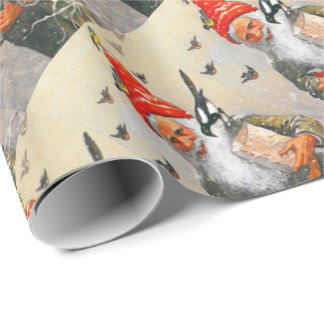 Feeding the Birds Wrapping Paper