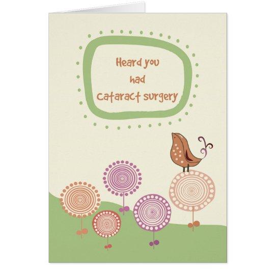 Feel Better, Get Well after Cataract Surgery, Bird Card