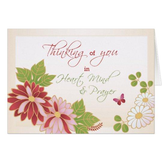 Feel Better, Religious Butterfly Flowers Card