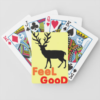 Feel good Deer shadow Bicycle Playing Cards