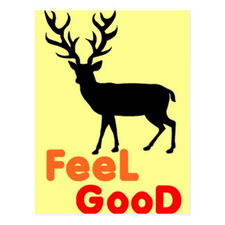 Feel good Deer shadow Postcard