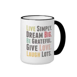 Feel Good Ringer Coffee Mug