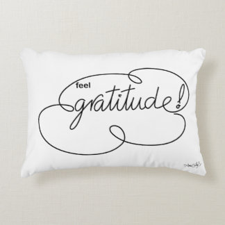 feel GRATITUDE - Bold CloudS Accent Pillow