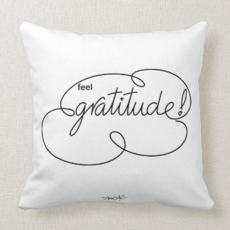 feel GRATITUDE - Bold CloudS Throw Pillow
