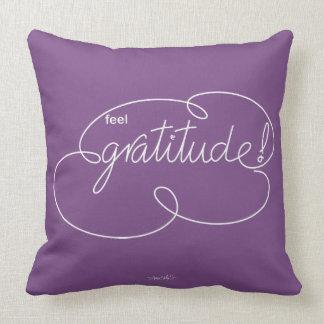 feel GRATITUDE - Bold CloudS - W Throw Pillow