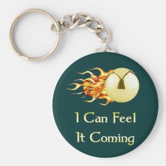 Feel It Coming Pinball Keychain