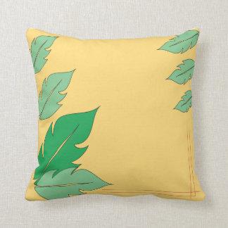 Feel Leafy Throw Pillow