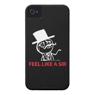 Feel Like A Sir - iPhone 4/4S Black Case